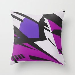 Dazzle purple large Throw Pillow