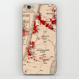 Map Of Palestine 1926 iPhone Skin