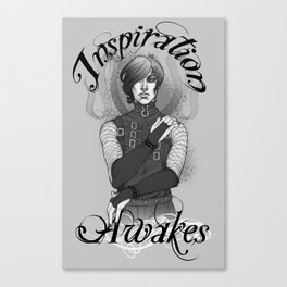 Inspiration Awakes in Grey Canvas Print