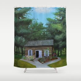 Summer at the Cabin Shower Curtain