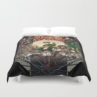 shingeki no kyojin Duvet Covers featuring wir sind die Jager (we are the hunters) by ghostfire
