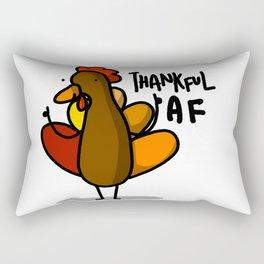 Thanksgiving Turkey Thankful AF   Veronica Nagorny Rectangular Pillow