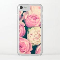 Paris gothic roses Clear iPhone Case
