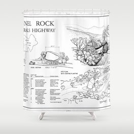 Tunnel Rock - Generals Highway, Three Rivers, Tulare County, CA Shower Curtain