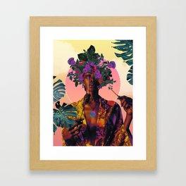 Flower Goddess Framed Art Print