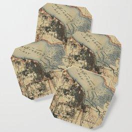 Vintage Map of Tacoma Washington (1895) Coaster
