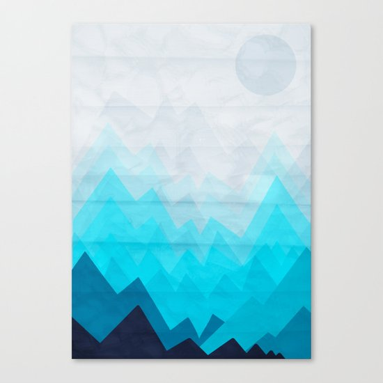 Ice Mounts Canvas Print