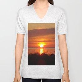 Seaside Sunset Unisex V-Neck