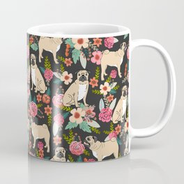 Pug floral dog breed must have gifts for pug lover pet pattern florals Coffee Mug
