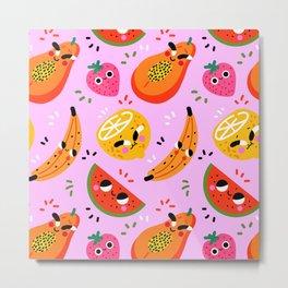 Pink-Fruits Metal Print