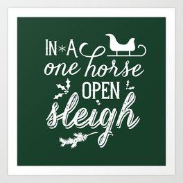 One Horse Open Sleigh Art Print