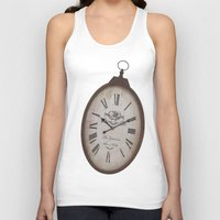 wall clock Tank Tops featuring Vintage Clock by Mirakyan