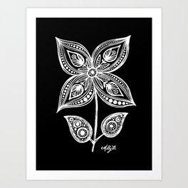 White Flowers 110 Art Print