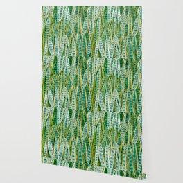 green snake plant pattern Wallpaper