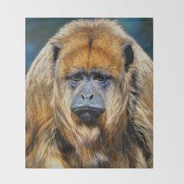 Howler Monkey Throw Blanket