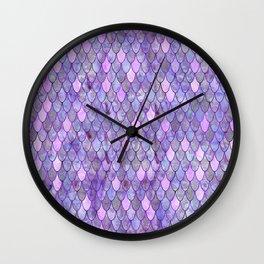 Mermaid Lilac Wall Clock