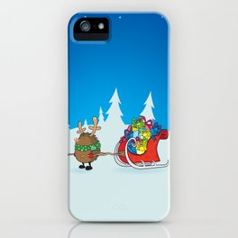 rudolph the red nosed hedgehog iPhone Case