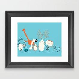 Chair's game Framed Art Print