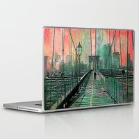 brooklyn bridge Laptop & iPad Skins featuring Brooklyn Bridge by Ganech joe