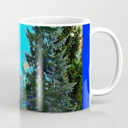 WESTERN PINE TREES LANDSCAPE IN BLUE Coffee Mug