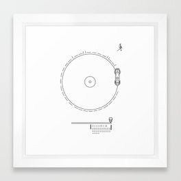 Voyager Golden Record Fig. 1 (White) Framed Art Print
