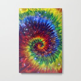 Celestial Rainbow Swirl Metal Print