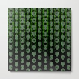 Skull Hacker (pattern version) Metal Print