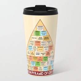 ron swanson's pyramid of greatness Travel Mug