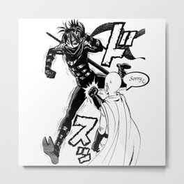 One Punch-Man OMG moment Metal Print