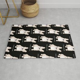 Pardon My Frenchie French Bulldog Rug