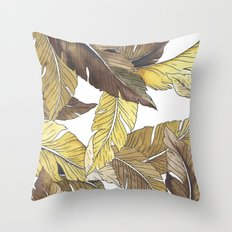 Banana's Jungle II Throw Pillow