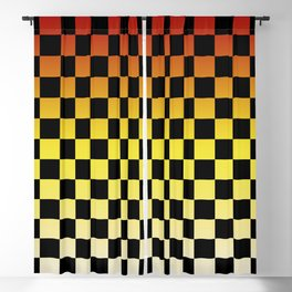 Chessboard Gradient IV Blackout Curtain