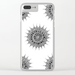 Doodle pattern Clear iPhone Case