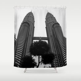 Petronas b&w Shower Curtain