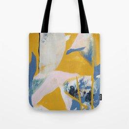 Beige, Pink, and Grey Tote Bag