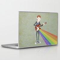 radiohead Laptop & iPad Skins featuring Radiohead Thom in Rainbows by AnaMF