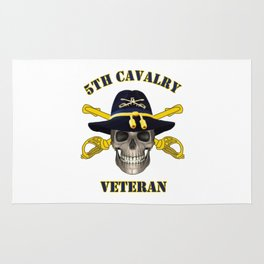 5th Cavalry - for Army Vets of Fifth Cavalry Rug