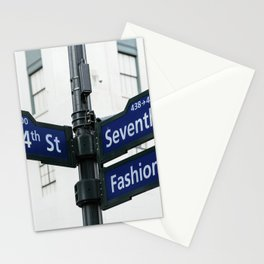 Road signs in Midtown of New York Stationery Cards