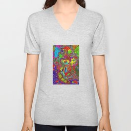 Anatomy of thought in Colour Unisex V-Neck