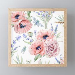Fall Country Flowers Framed Mini Art Print