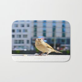 City Bird Lovely Sparrow Bath Mat