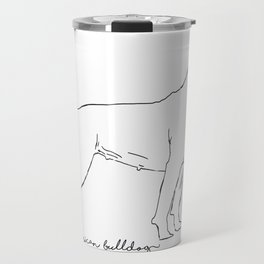American Bulldog sketch Travel Mug