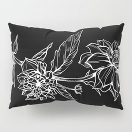 Black Dahlia Pillow Sham