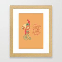 Seguir avanzando Framed Art Print
