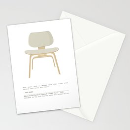 Eames Chair - Upholstered Molded Plywood Lounge Chair Stationery Cards