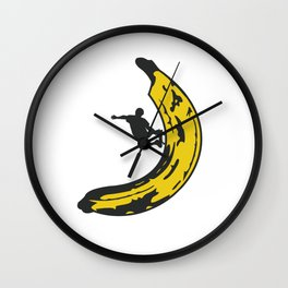 Banana Boarder Wall Clock