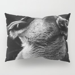Lioness (Black and White) Pillow Sham