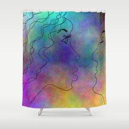 Please Kiss Me Shower Curtain