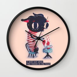 I will not obey chihuahua Wall Clock