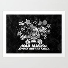 Mad Mario: Beyond Another Castle Art Print